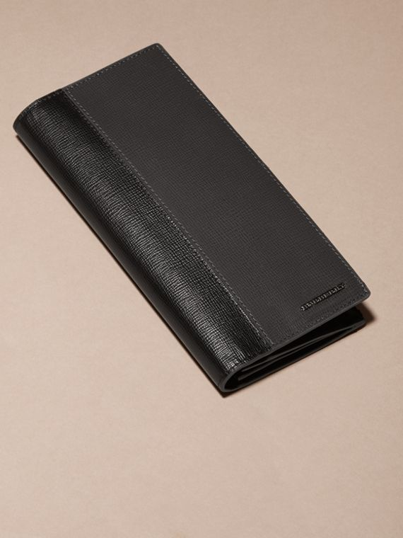 Charcoal/black Colour Block London Leather Continental Wallet Charcoal/black - cell image 2