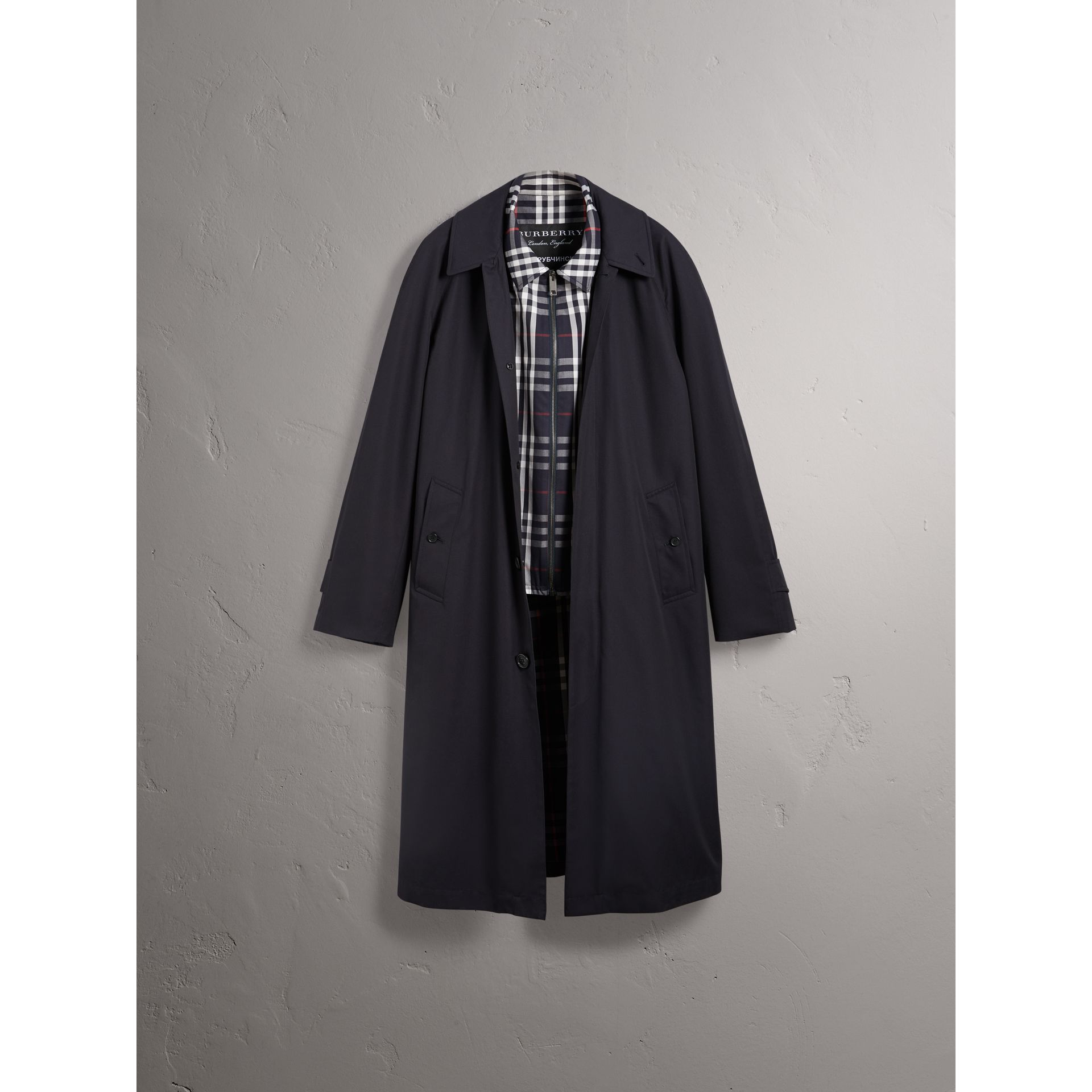 Gosha x Burberry Reconstructed Car Coat in Navy - Men | Burberry - gallery image 4