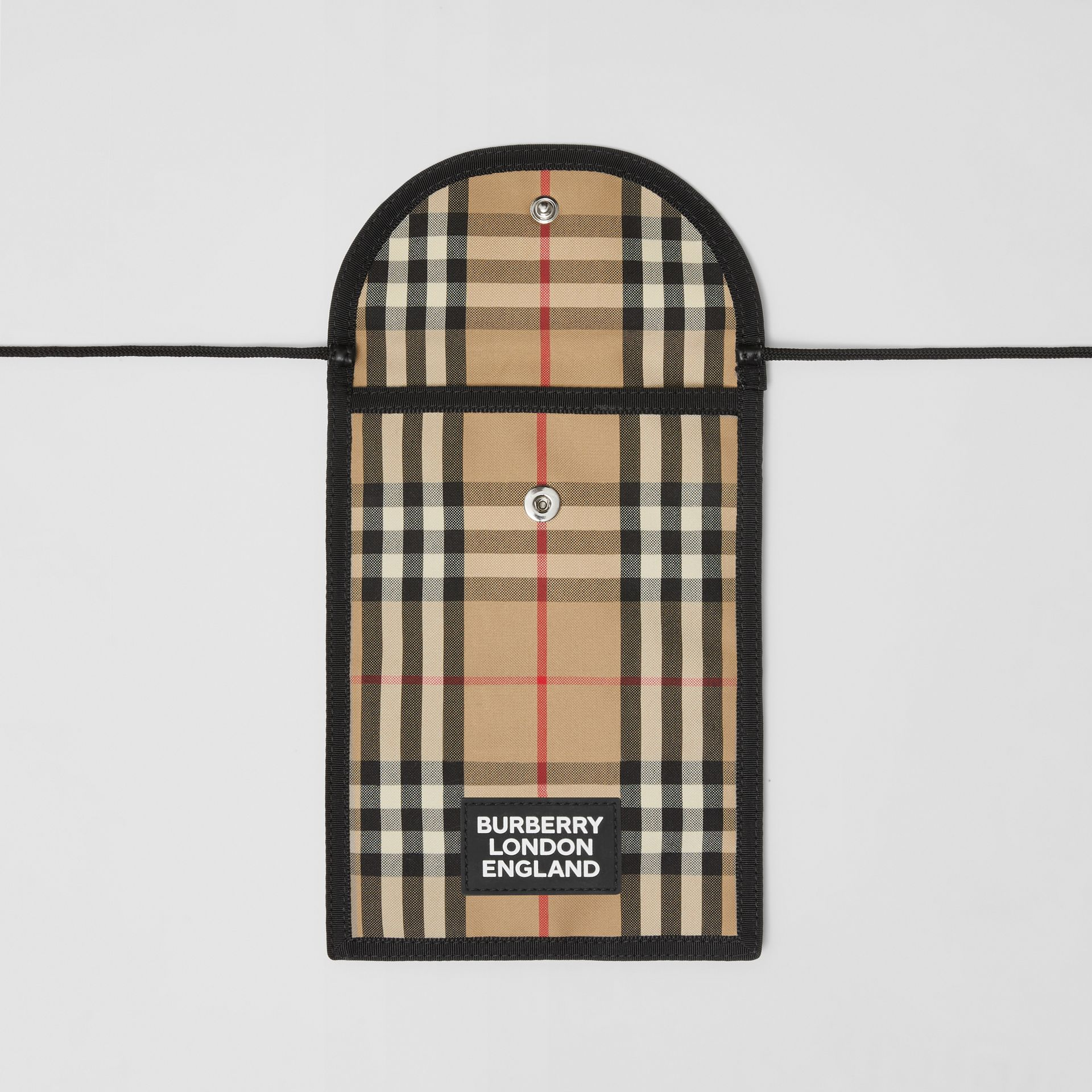 Logo Appliqué Vintage Check Phone Case Lanyard in Archive Beige | Burberry - gallery image 4