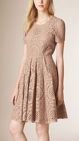 English Lace A-Line Dress