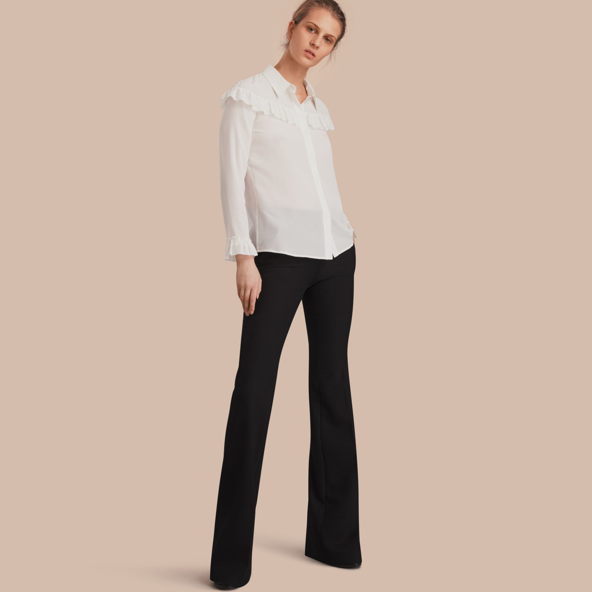 Wide-leg Technical Trousers - gallery image 1