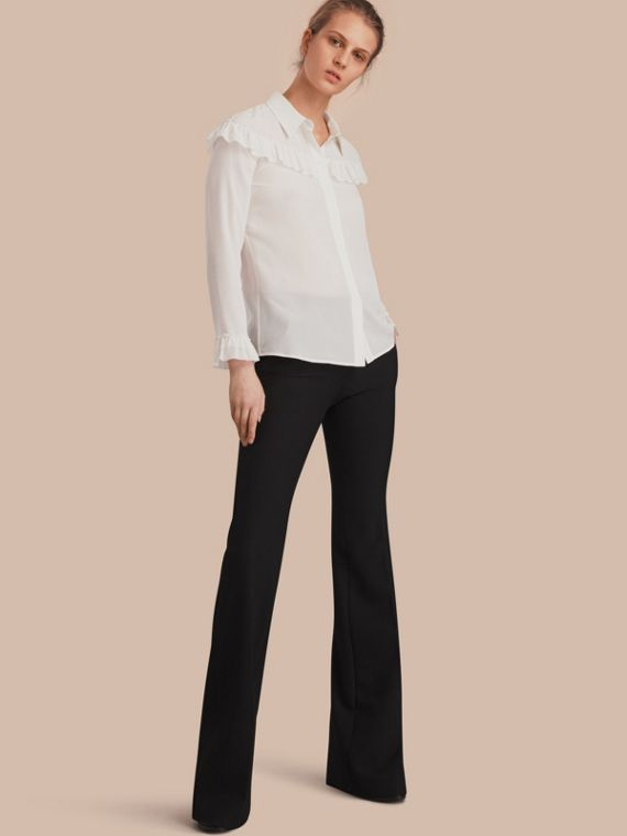 Wide-leg Technical Trousers