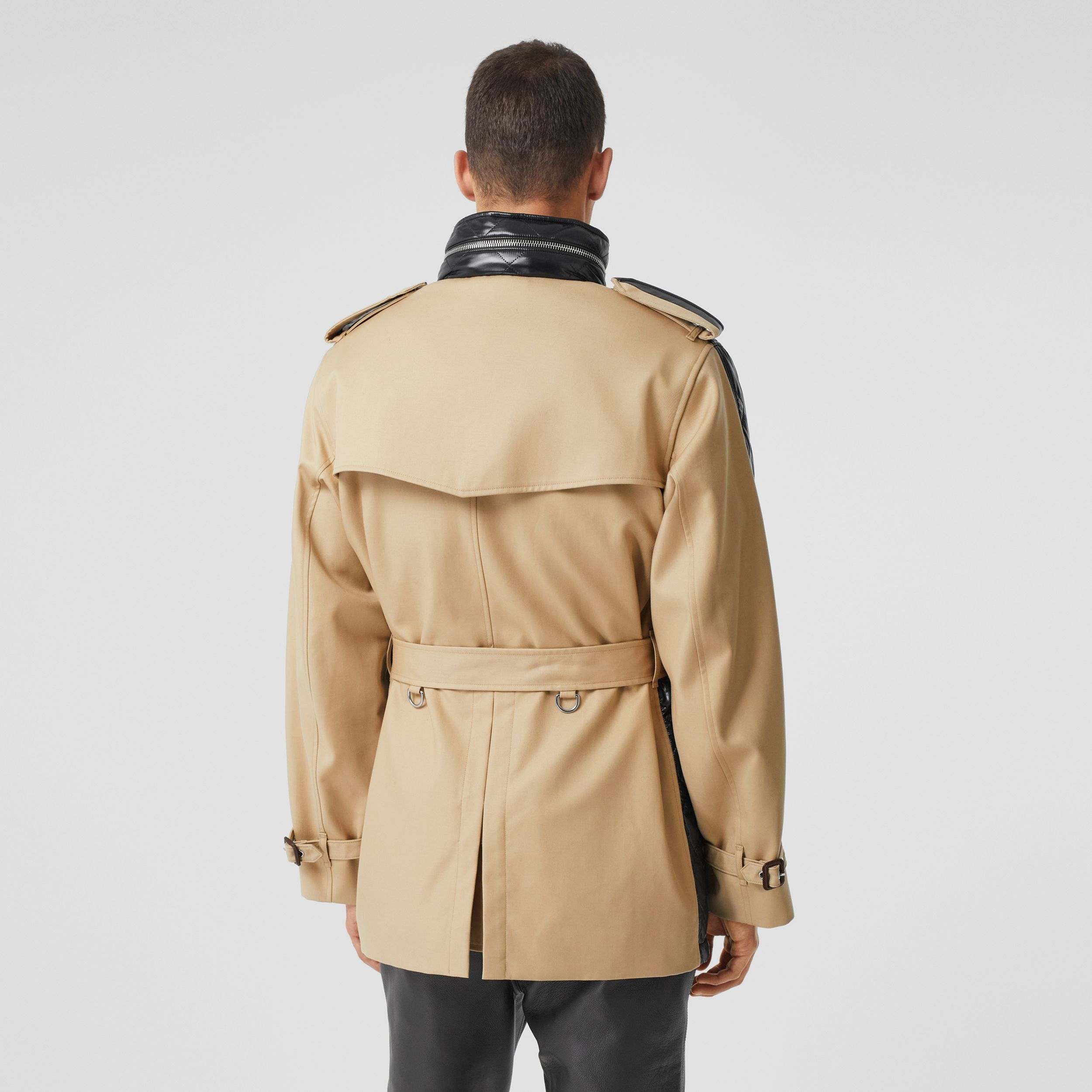 Packaway Hood Quilted Nylon and Cotton Field Jacket in Black | Burberry - 3
