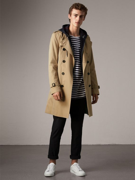 The Kensington - Trench coat Heritage lungo (Miele) - Uomo | Burberry