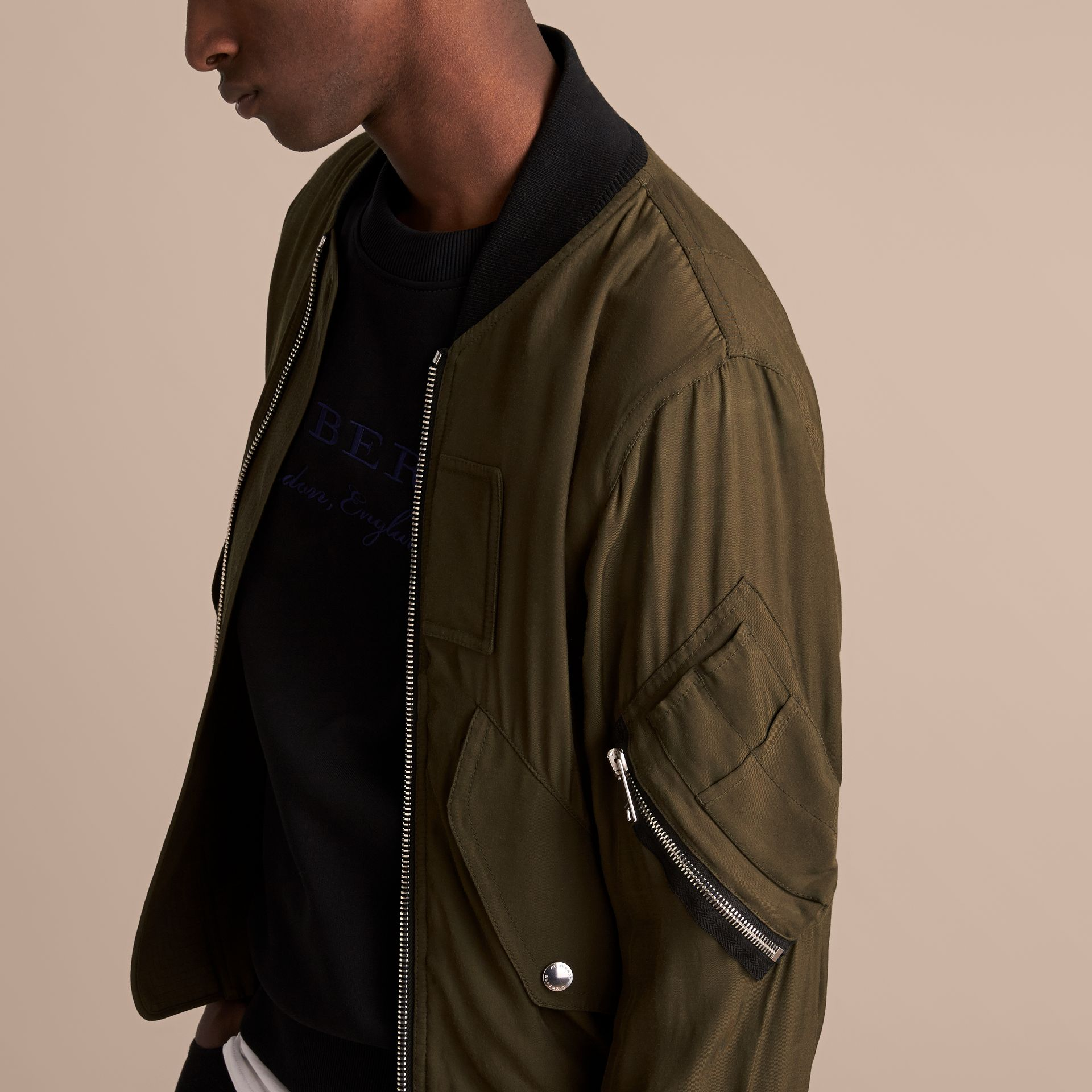 Technical Twill Bomber Jacket - Men | Burberry - gallery image 5