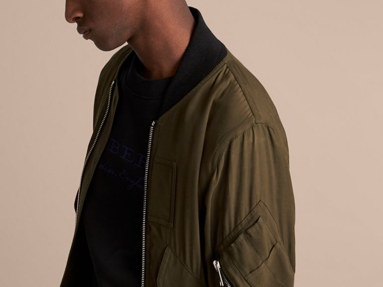 Technical Twill Bomber Jacket - Men | Burberry Australia - cell image 4