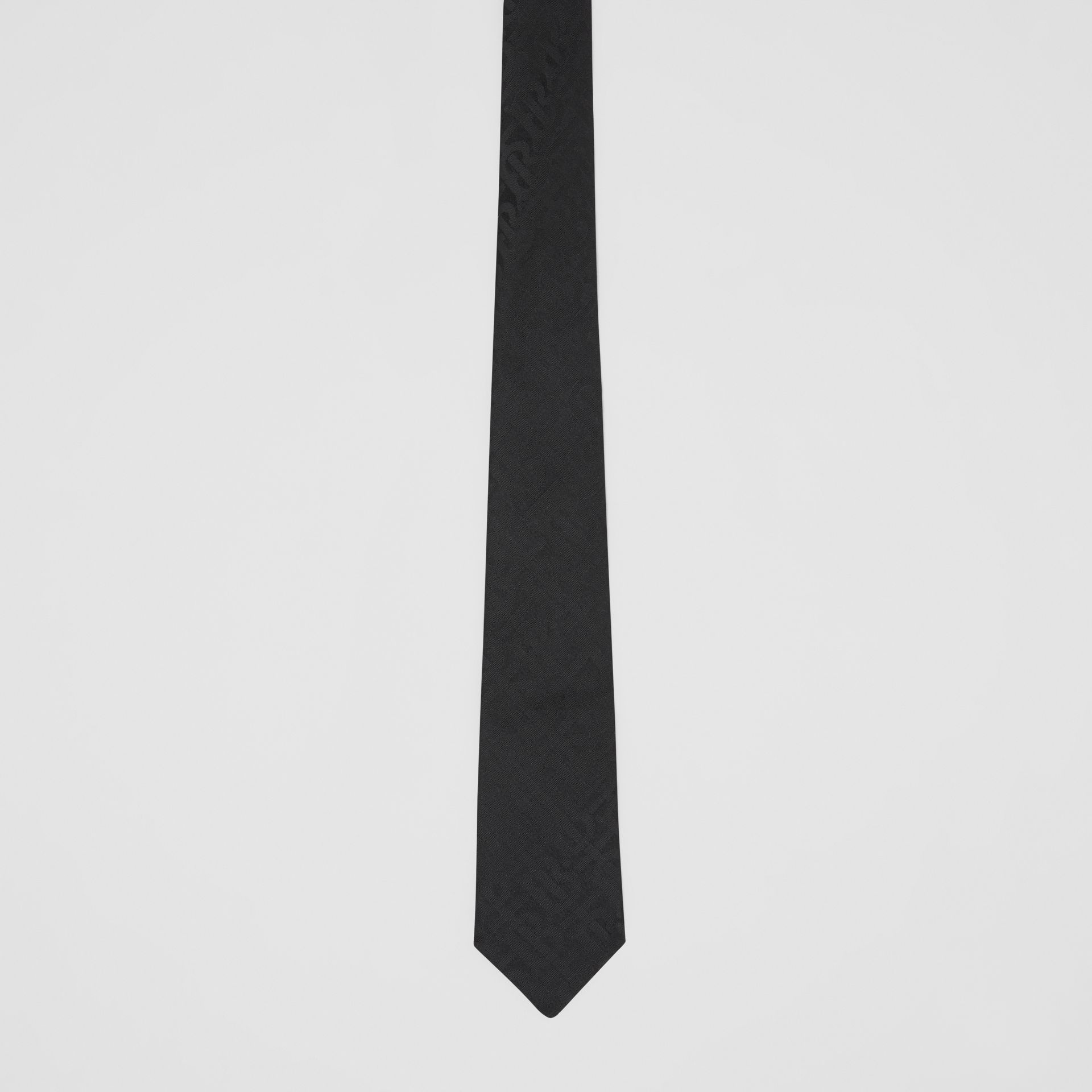 Classic Cut Monogram Silk Jacquard Tie in Black - Men | Burberry - gallery image 3