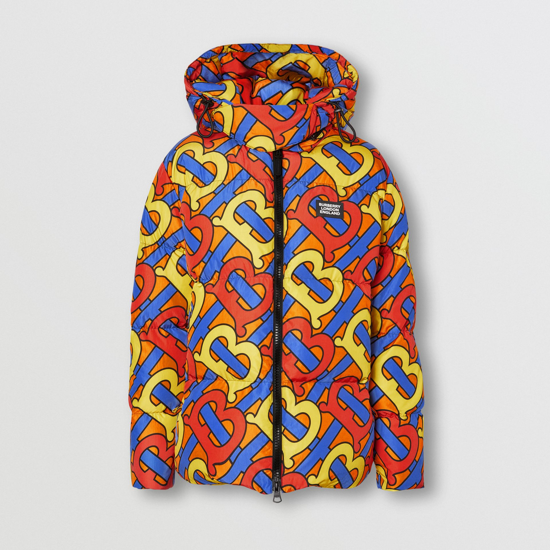 Monogram Print Puffer Jacket in Multicolour | Burberry - gallery image 0