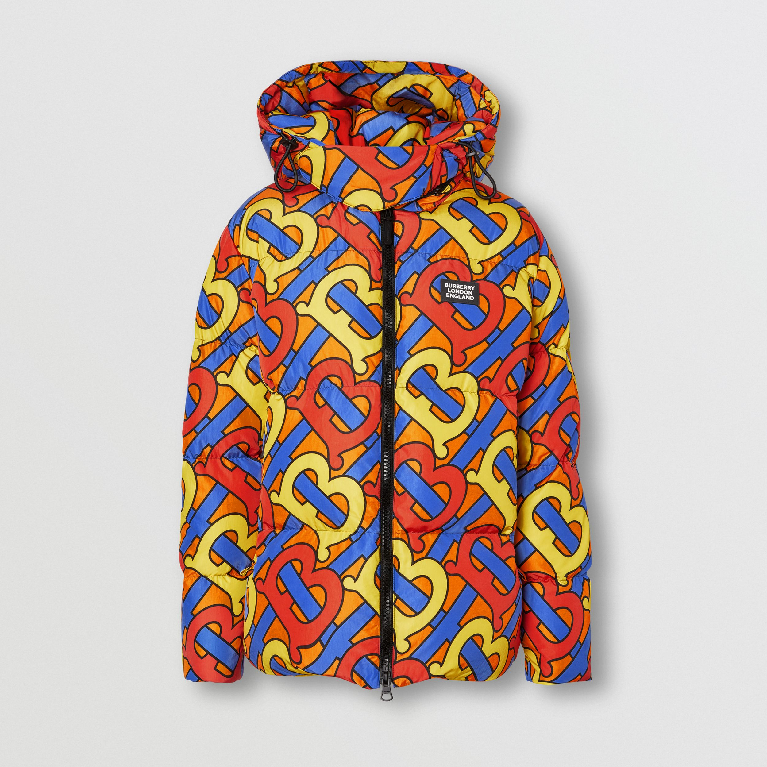 Monogram Print Puffer Jacket in Multicolour | Burberry - 1