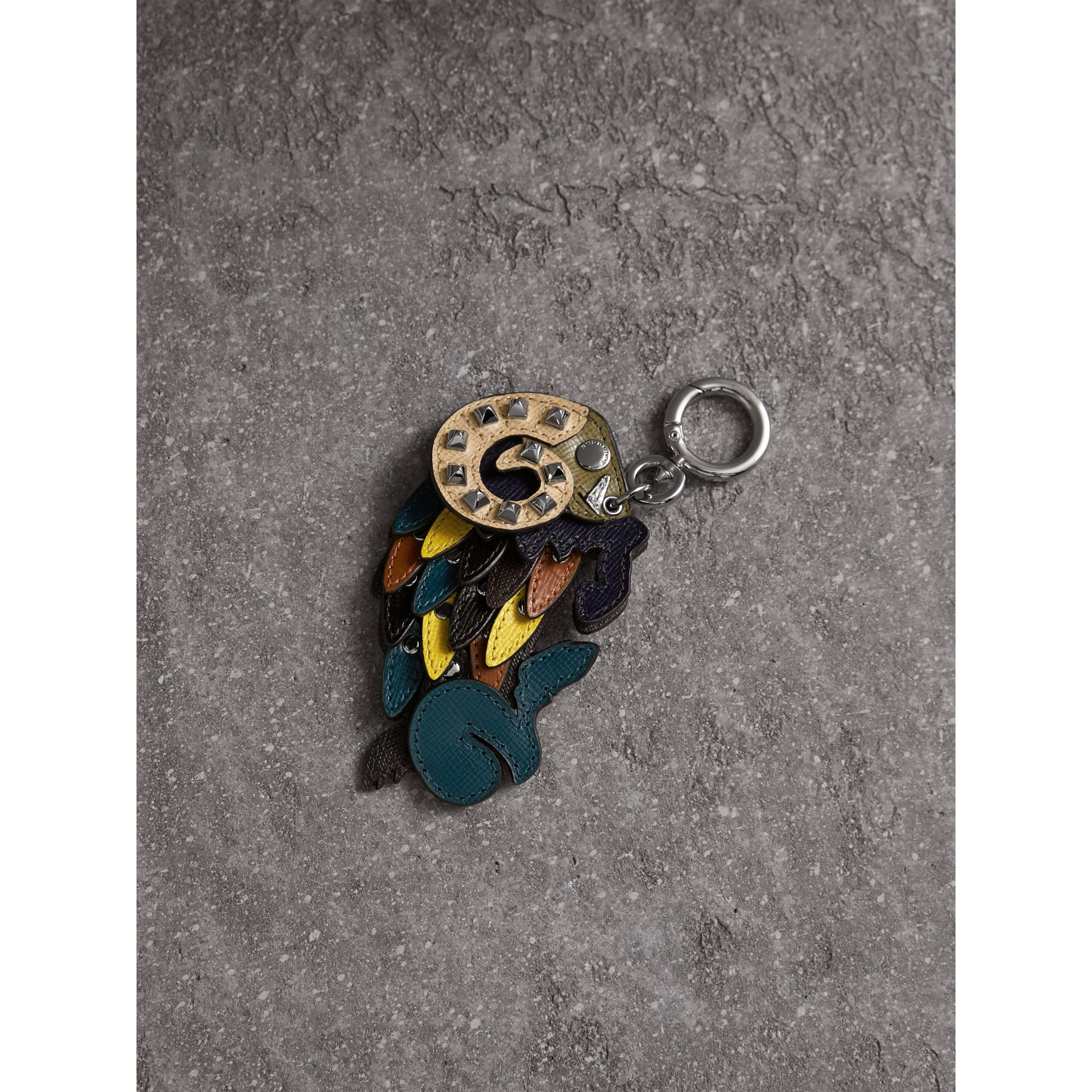 Beasts Riveted Leather Key Ring - Men | Burberry - gallery image 1
