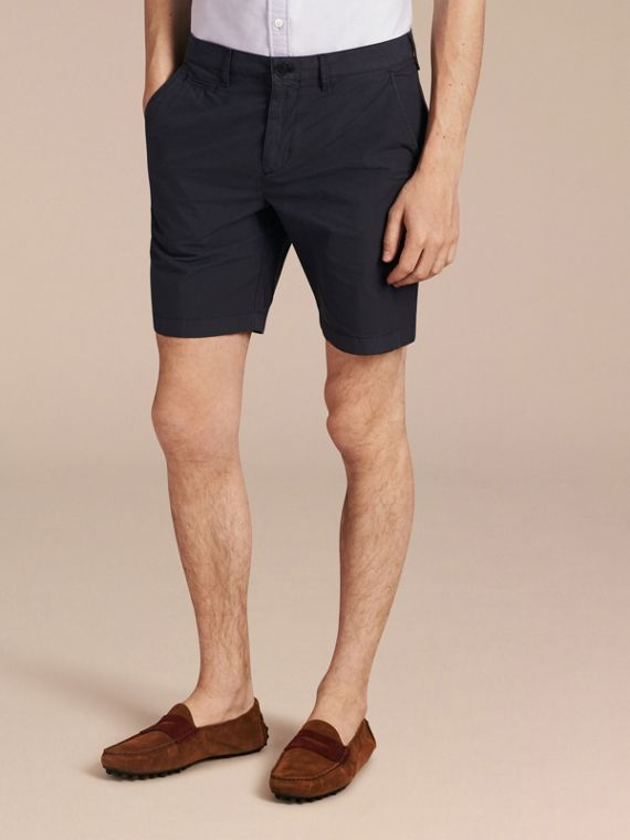 Cotton Poplin Chino Shorts Indigo