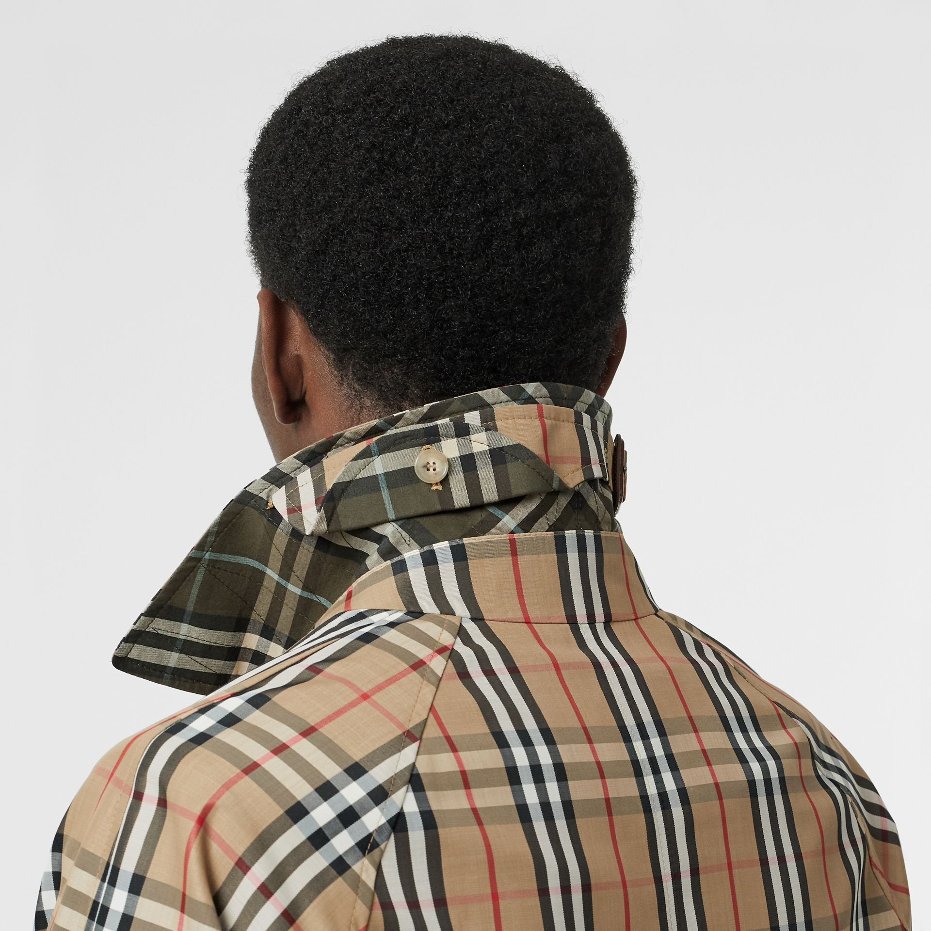 Vintage Check Car Coat in Archive Beige - Men | Burberry - gallery image 5
