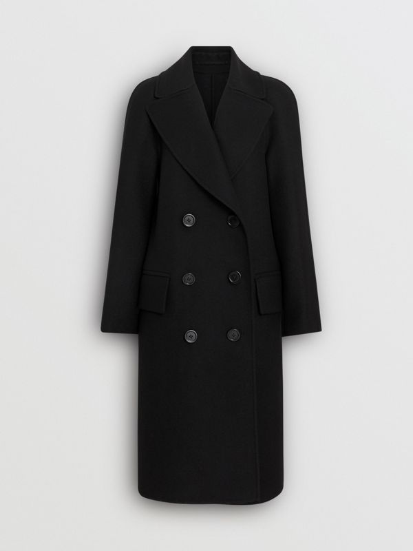 Double-faced Cashmere Tailored Coat in Black - Women | Burberry Singapore - cell image 3