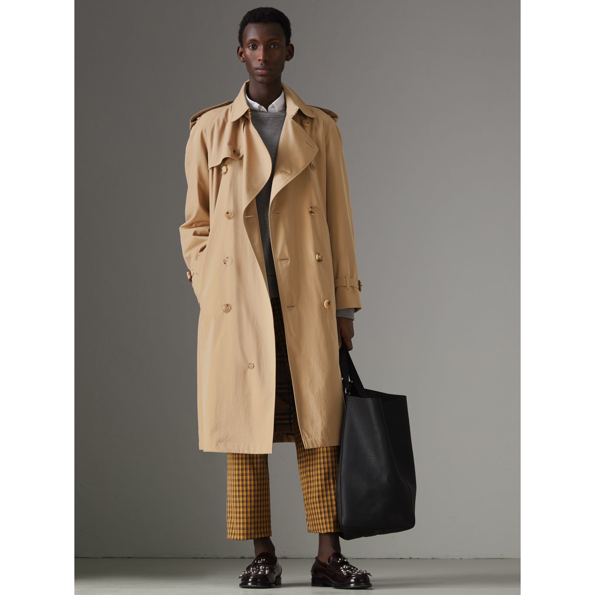 The Westminster Heritage Trench Coat in Honey - Men | Burberry Singapore - gallery image 7
