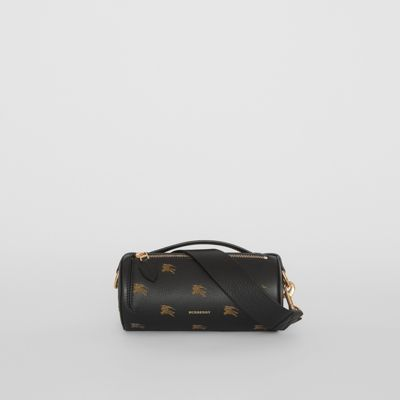 The Ekd Leather Barrel Bag by Burberry
