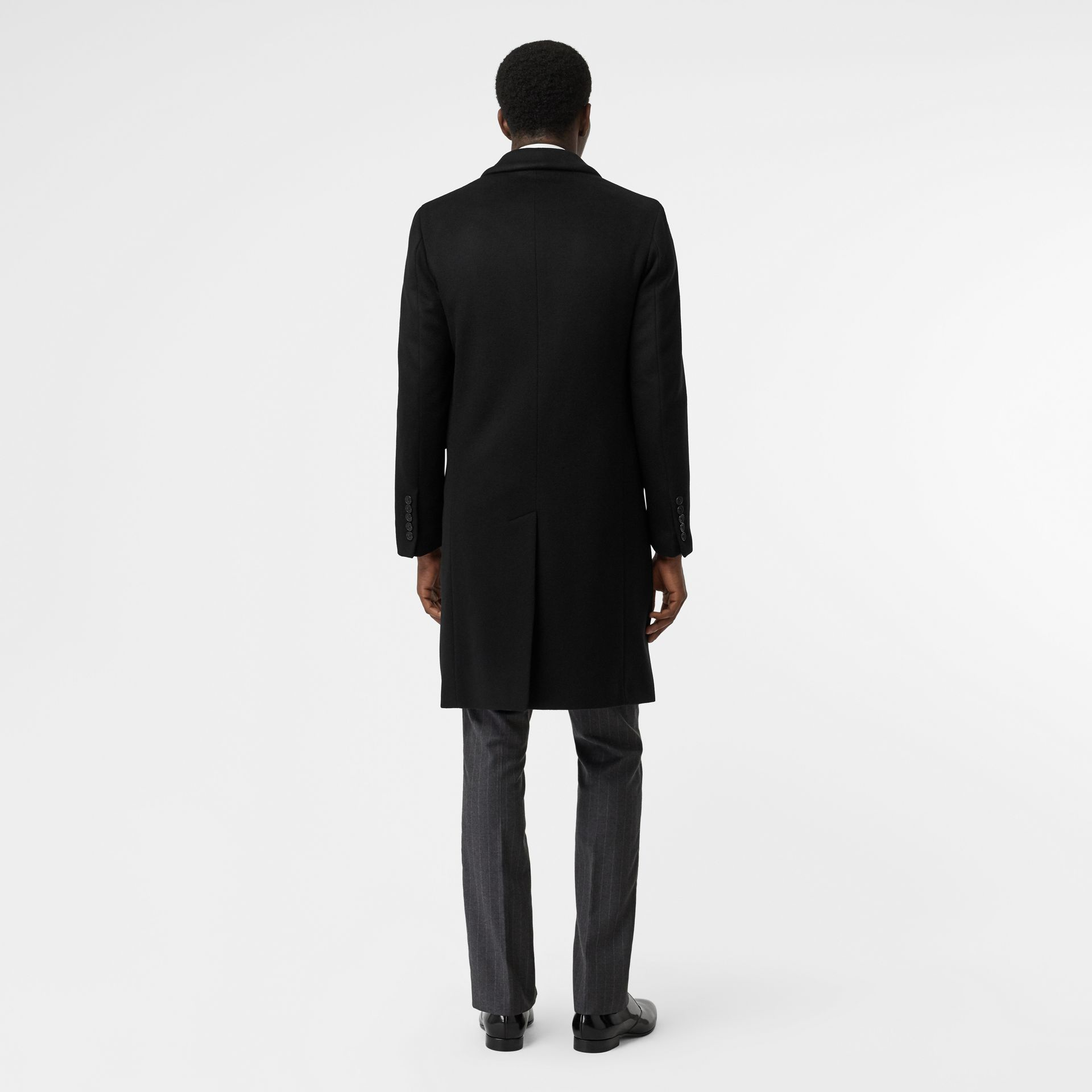 Wool Cashmere Tailored Coat in Black - Men | Burberry Canada - gallery image 2