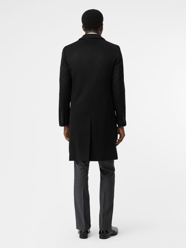 Wool Cashmere Tailored Coat in Black - Men | Burberry United Kingdom - cell image 2