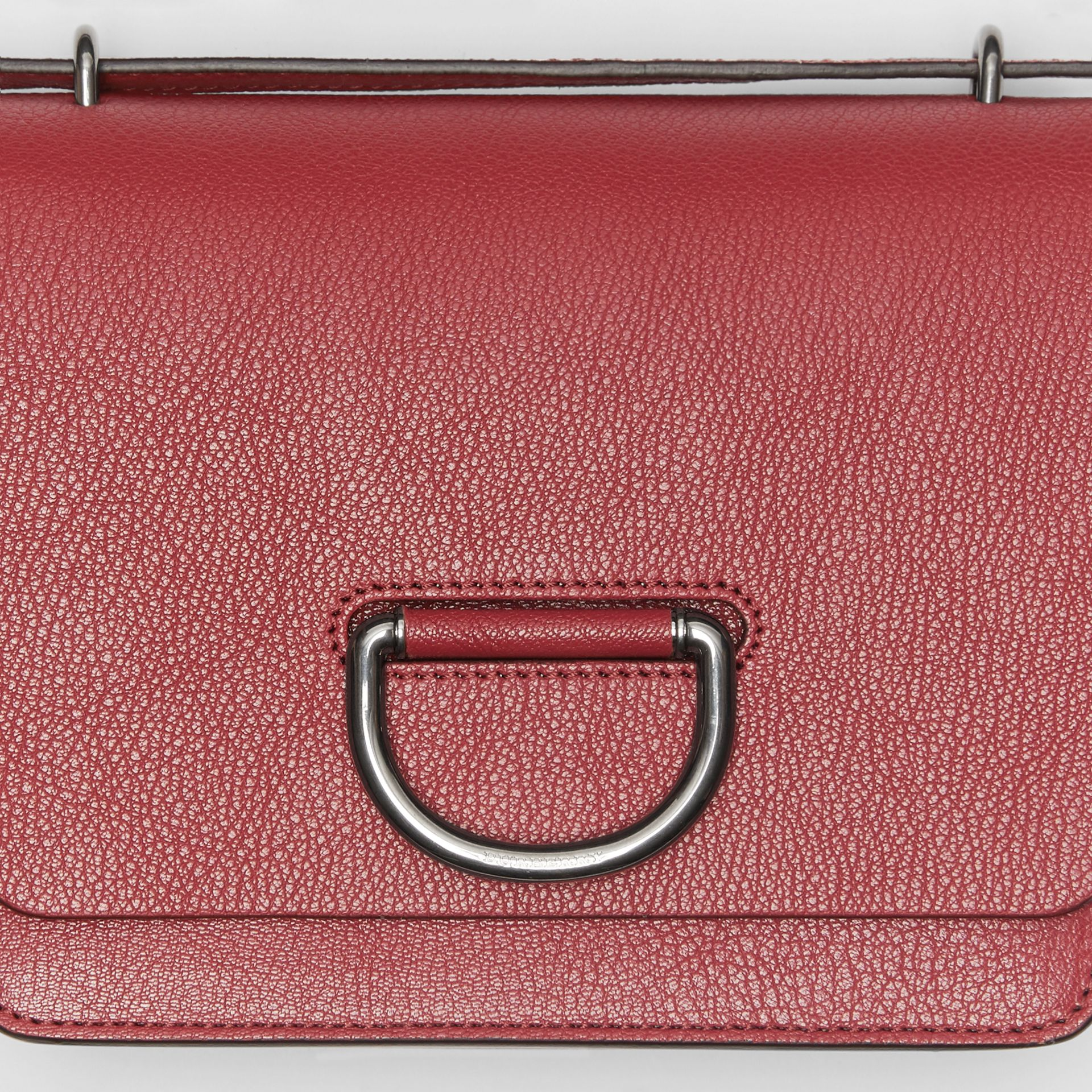 The Small Leather D-ring Bag in Crimson - Women | Burberry Singapore - gallery image 1
