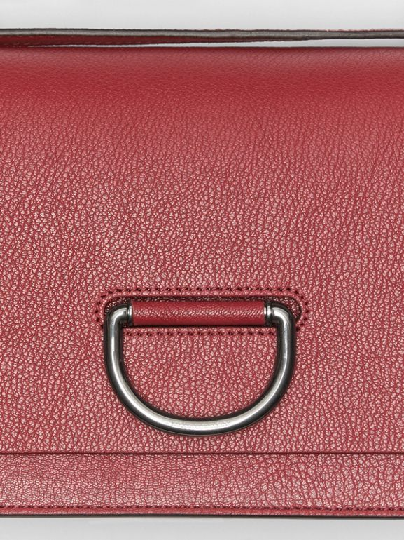 The Small Leather D-ring Bag in Crimson - Women | Burberry - cell image 1