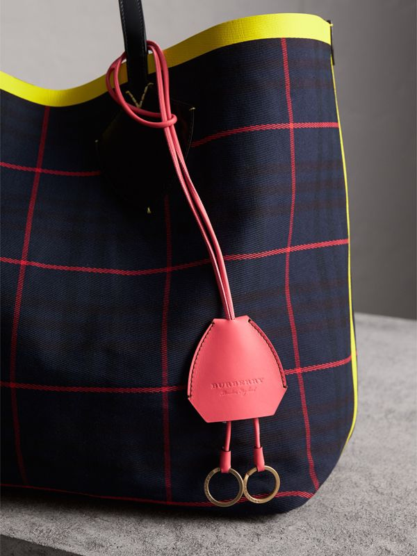 Equestrian Shield Leather Key Charm in Peony Pink - Women | Burberry - cell image 2