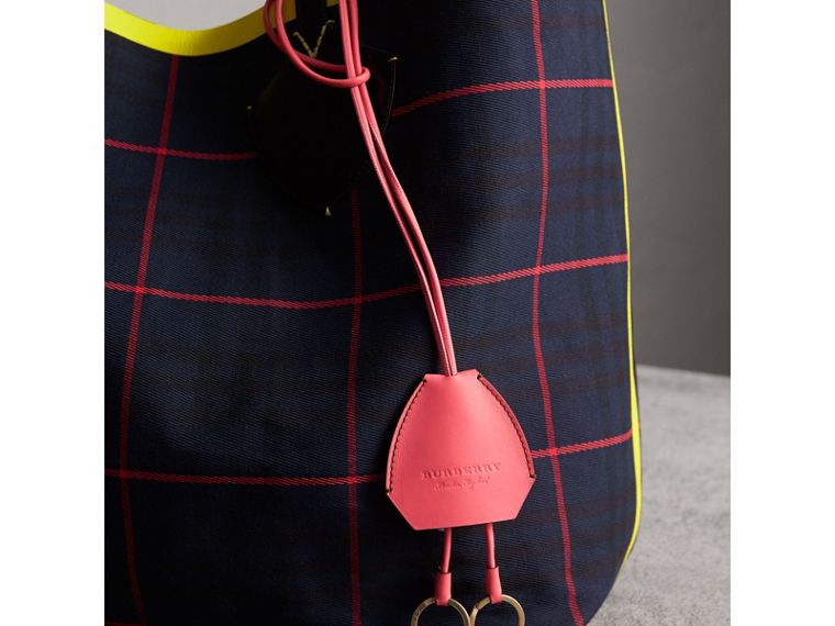 Equestrian Shield Leather Key Charm in Peony Pink - Women | Burberry Canada - cell image 2