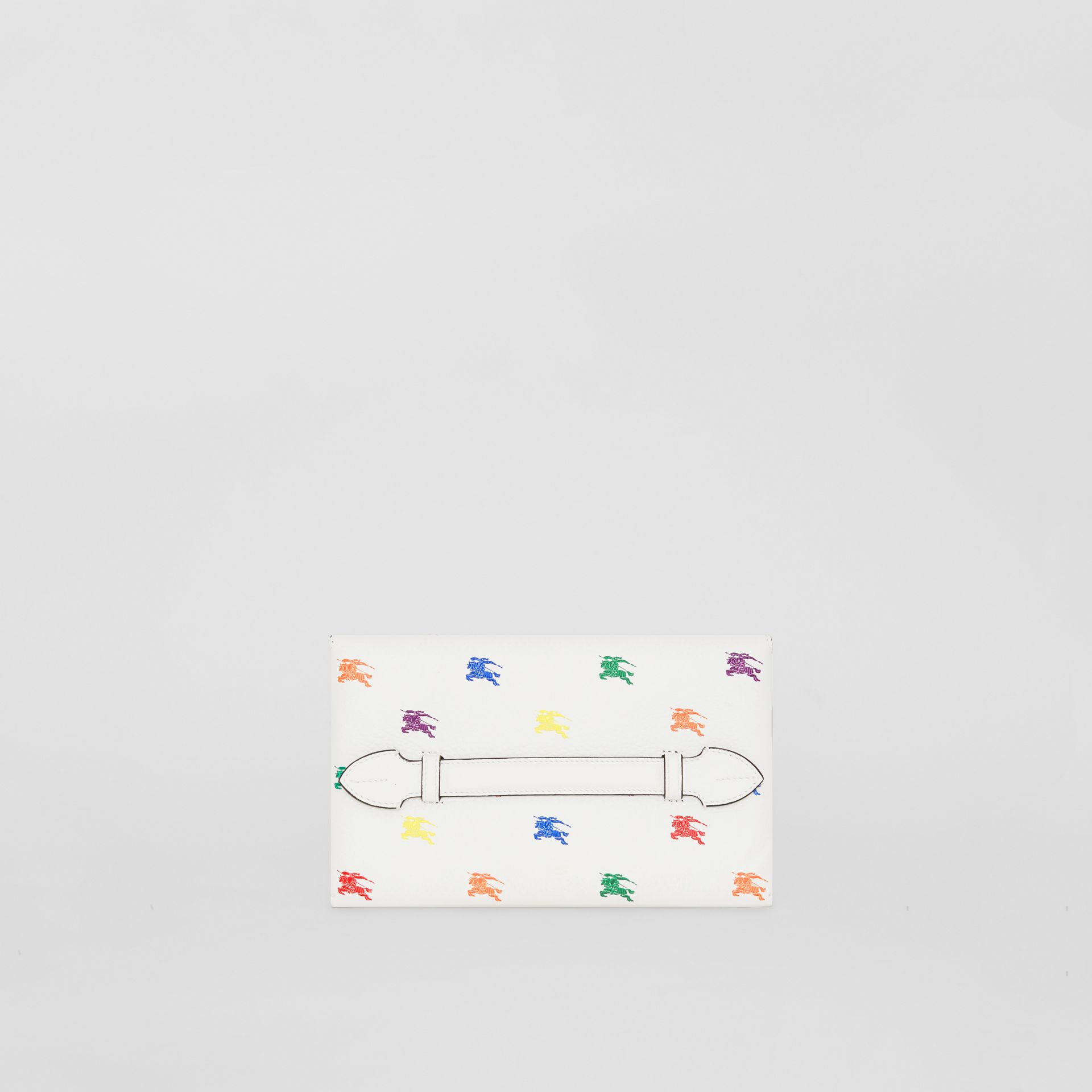 EKD Leather Wristlet Clutch in Chalk White - Women | Burberry United States - gallery image 7