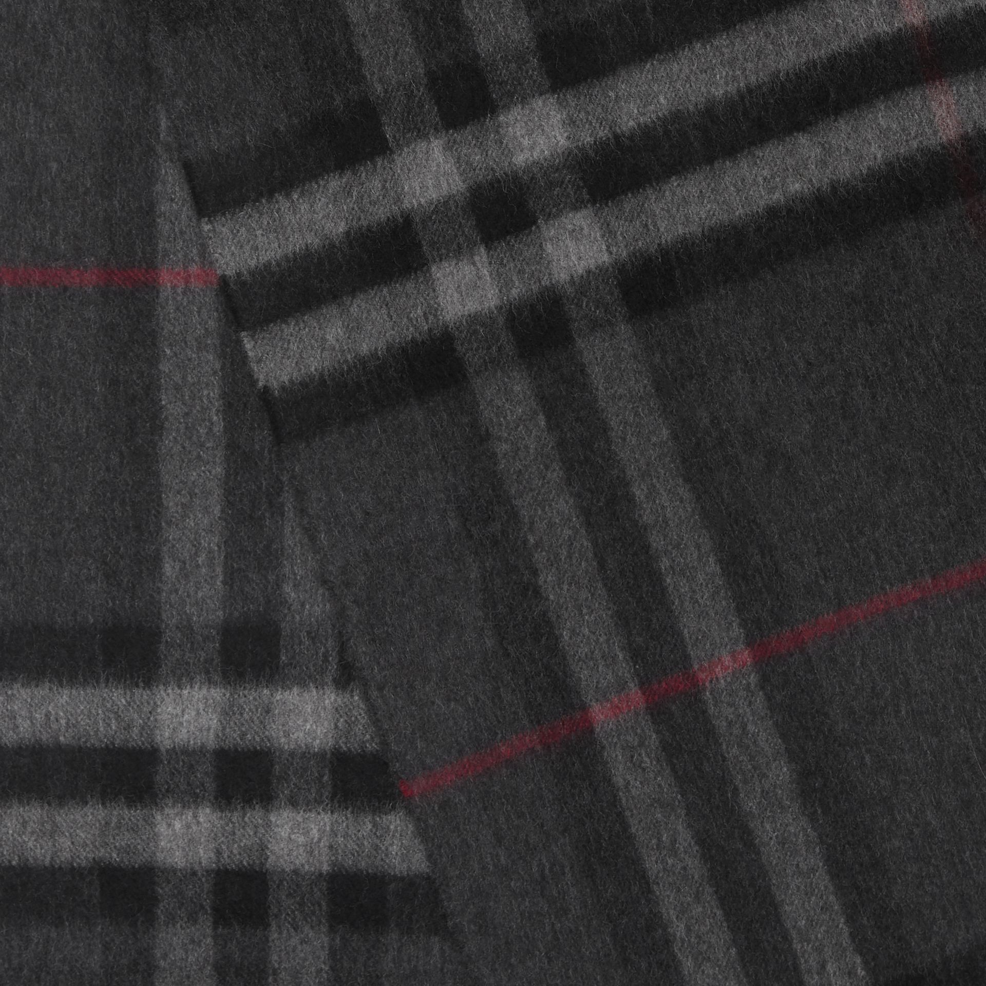 The Classic Check Cashmere Scarf in Charcoal | Burberry United Kingdom - gallery image 1