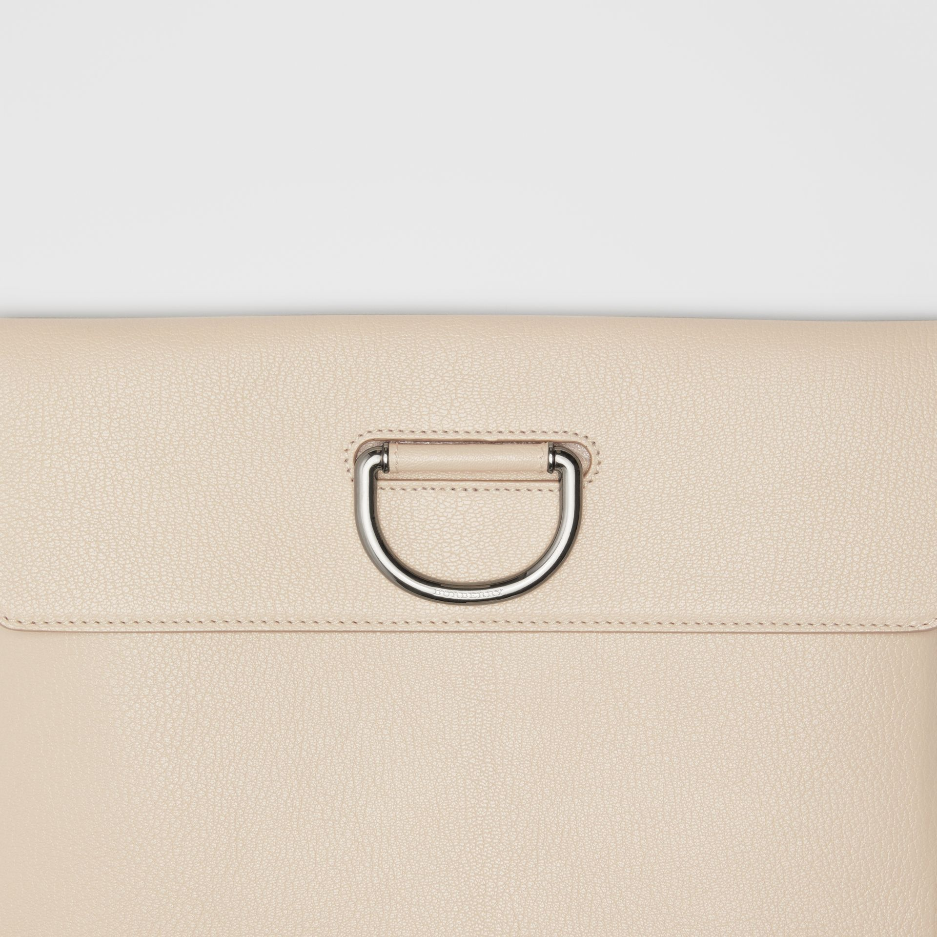D-ring Leather Pouch in Stone - Women | Burberry Singapore - gallery image 1