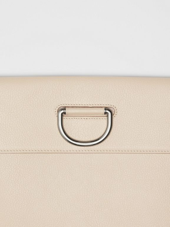 D-ring Leather Pouch in Stone - Women | Burberry Singapore - cell image 1