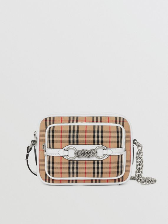 The 1983 Check Link Camera Bag in Chalk White