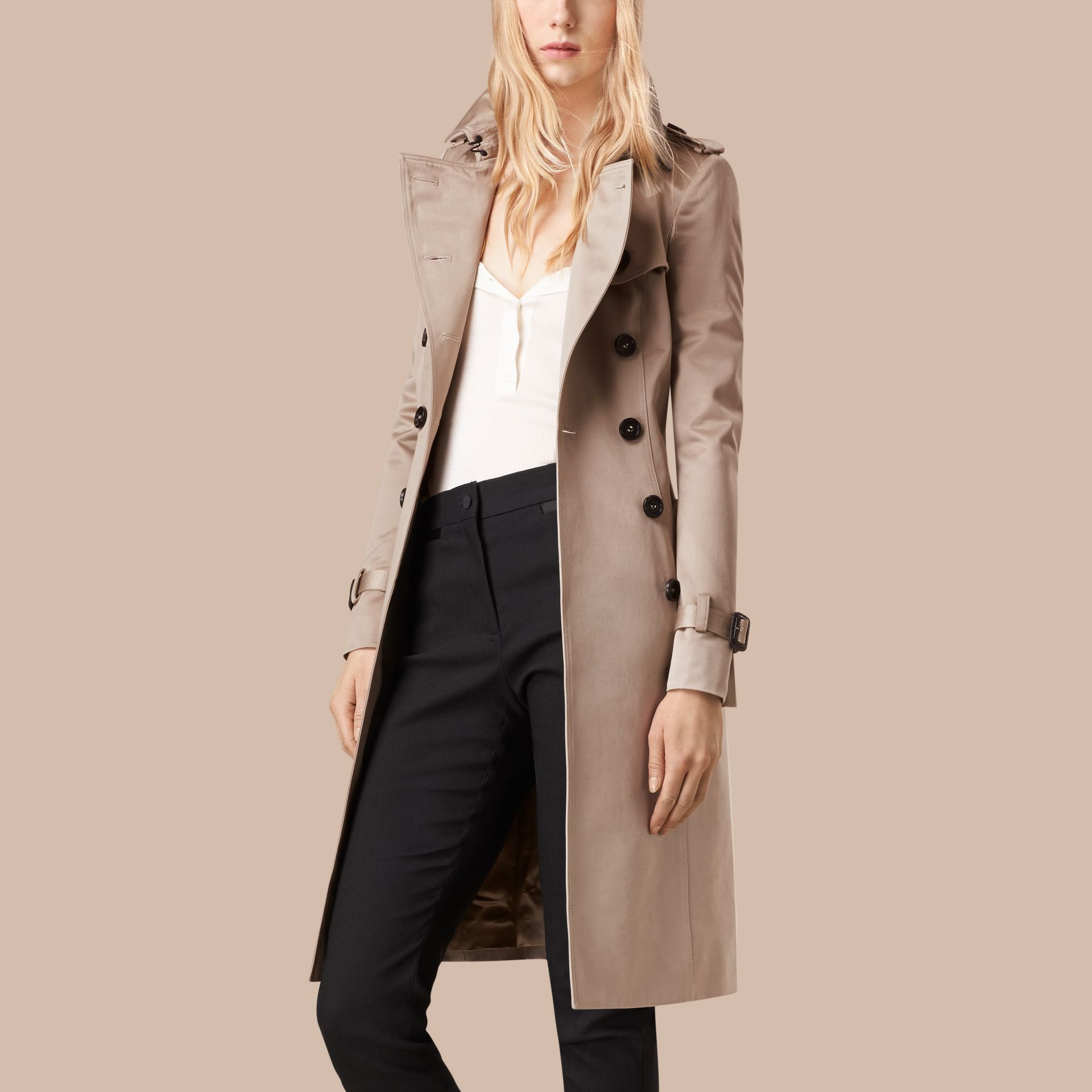 Trench Cotton Sateen Trench Coat - gallery image 4