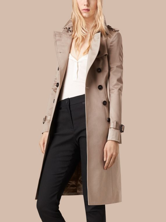Trench Cotton Sateen Trench Coat - cell image 3