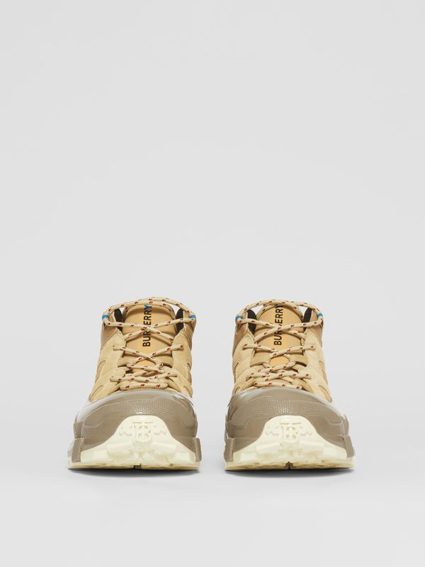 Suede, Mesh and Leather Arthur Sneakers in Beige - Men | Burberry United Kingdom - cell image 2