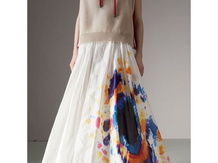 Tie-dye Print Maxi Skirt in Multi-bright Blue - Women | Burberry - cell image 4