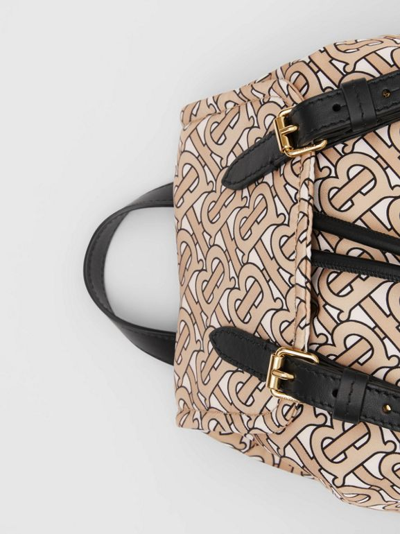 The Small Rucksack in Monogram Print Nylon in Beige - Women | Burberry Australia - cell image 1
