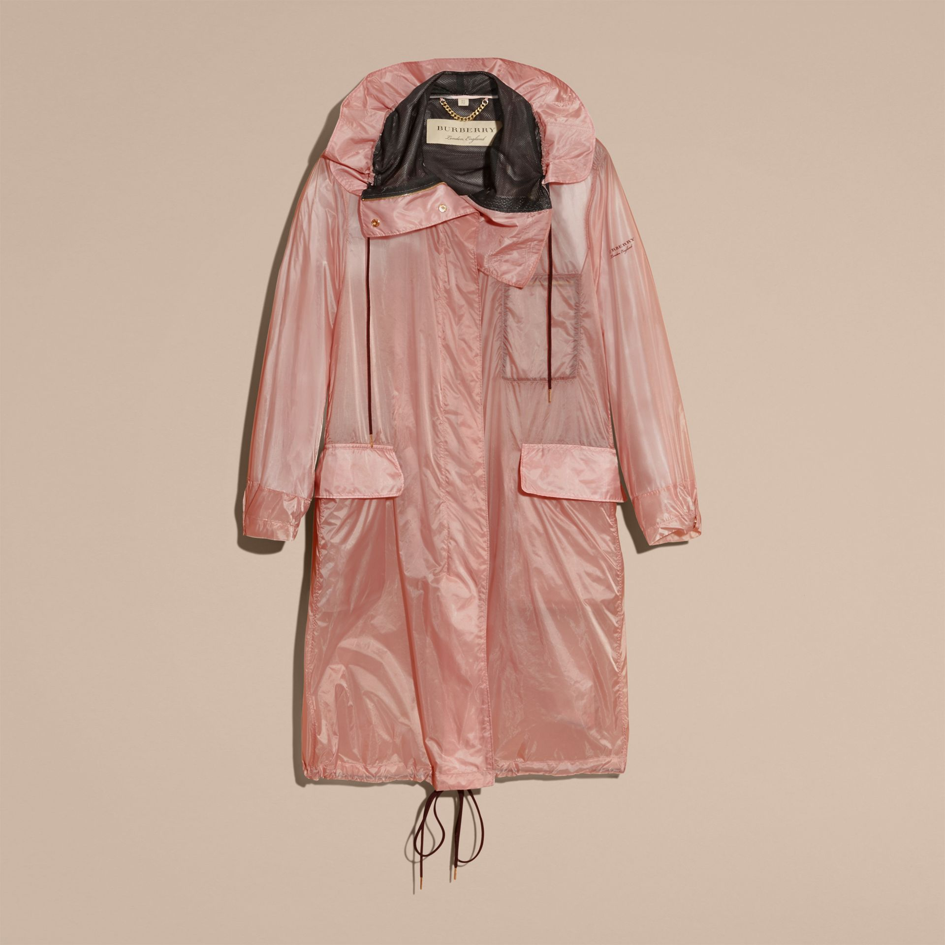Hooded Lightweight Oversize Parka Ash Rose - gallery image 4