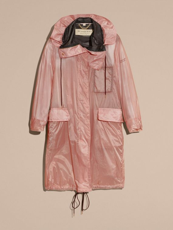 Hooded Lightweight Oversize Parka Ash Rose - cell image 3