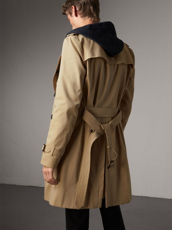 The Kensington – Long Trench Coat in Honey - Men | Burberry Australia - cell image 2