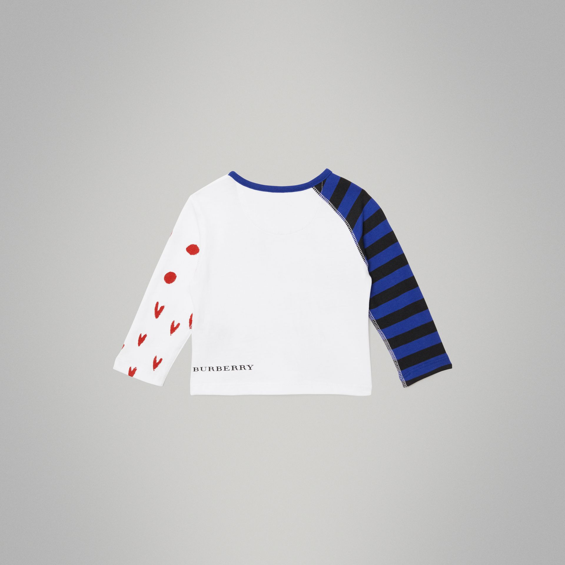 Long-sleeve Rainbow Graphic Cotton Top in White - Children | Burberry United States - gallery image 3