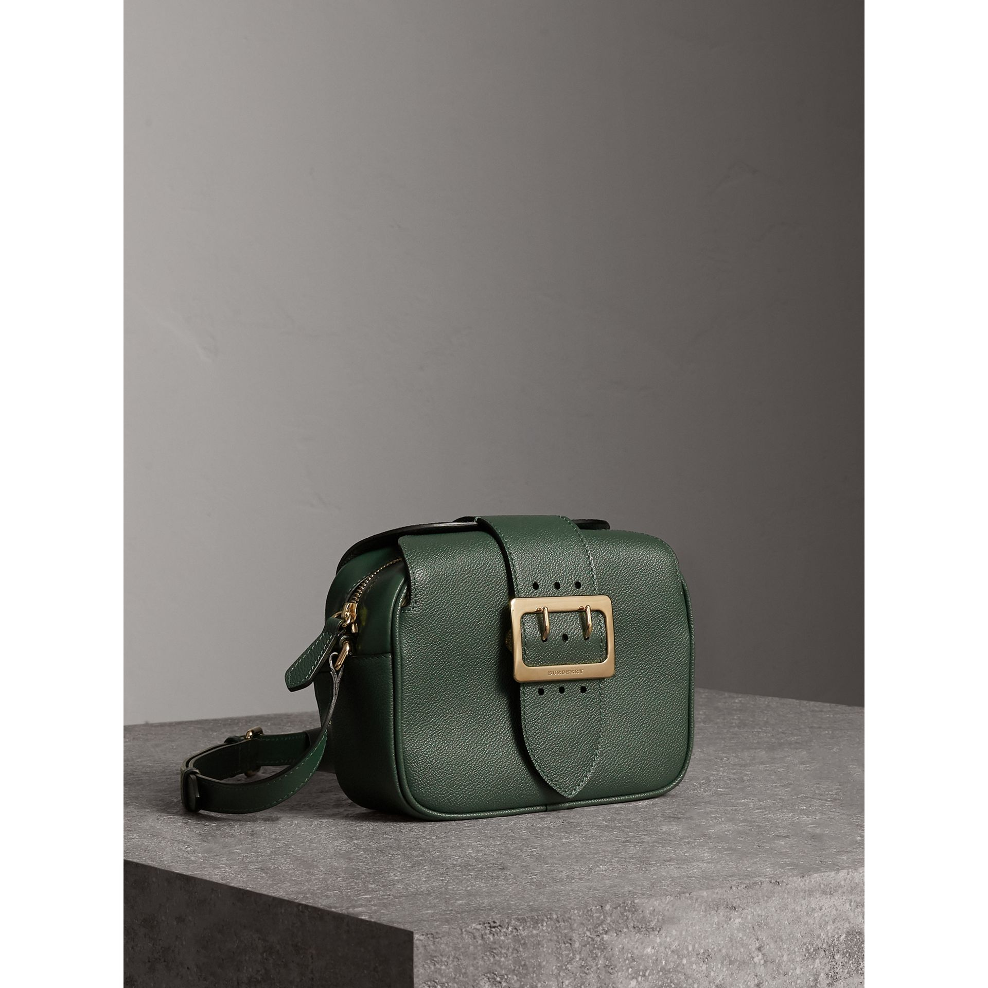 The Small Buckle Crossbody Bag in Leather in Sea Green - Women | Burberry Australia - gallery image 6