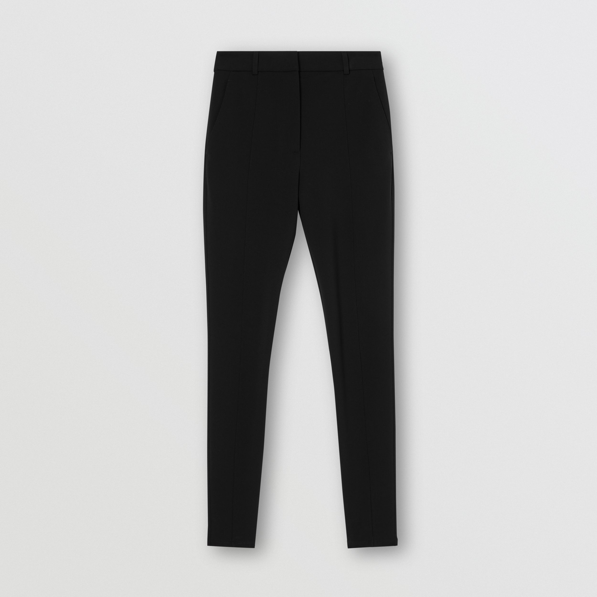 Stretch Jersey Jodhpurs in Black - Women | Burberry United States - 4