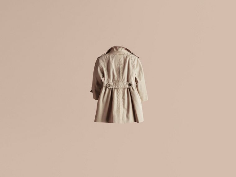 Trench Skirted Cotton Twill Trench Coat - cell image 2