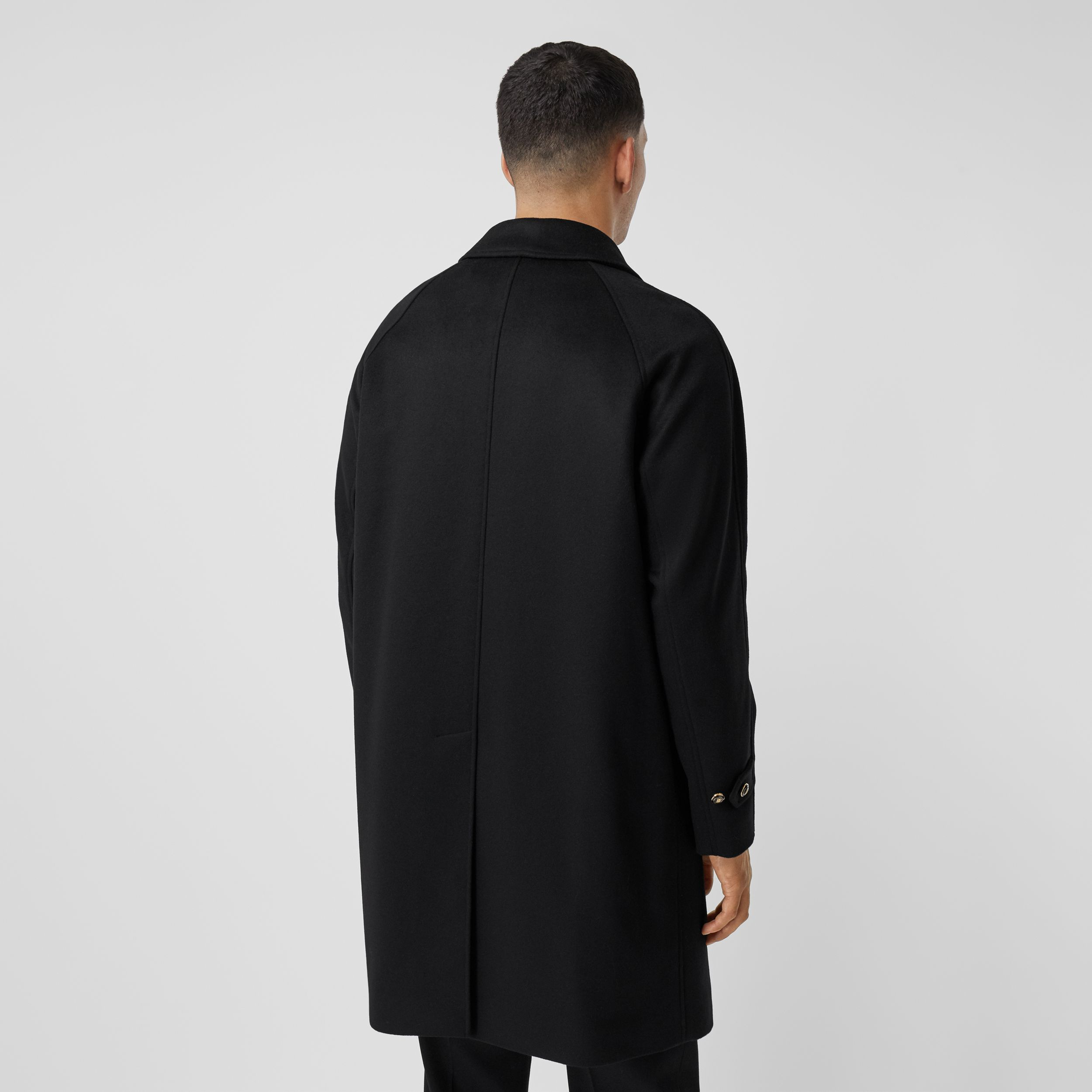 Button Detail Wool Cashmere Car Coat in Black - Men | Burberry - 3