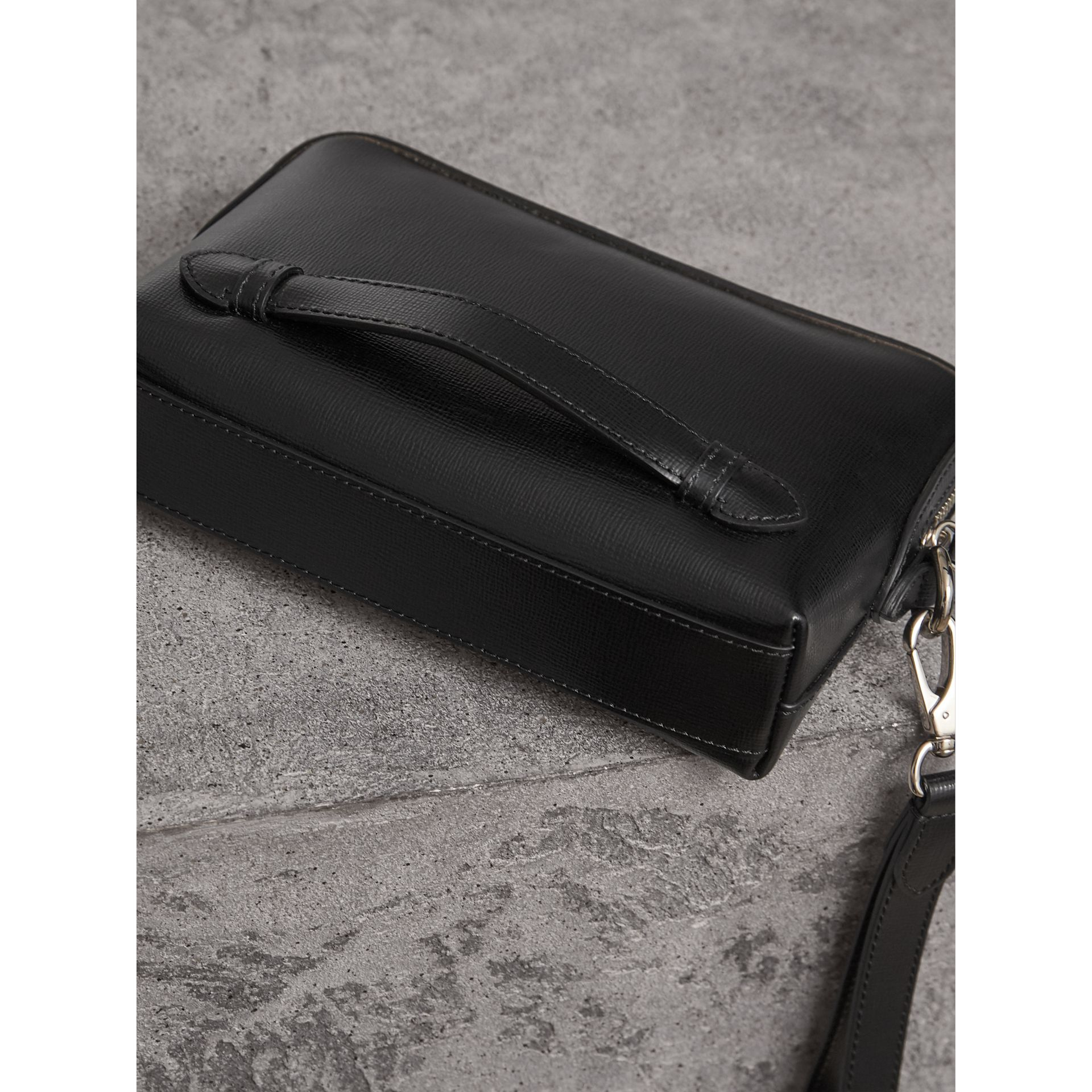 London Leather Pouch in Black - Men | Burberry United Kingdom - gallery image 3