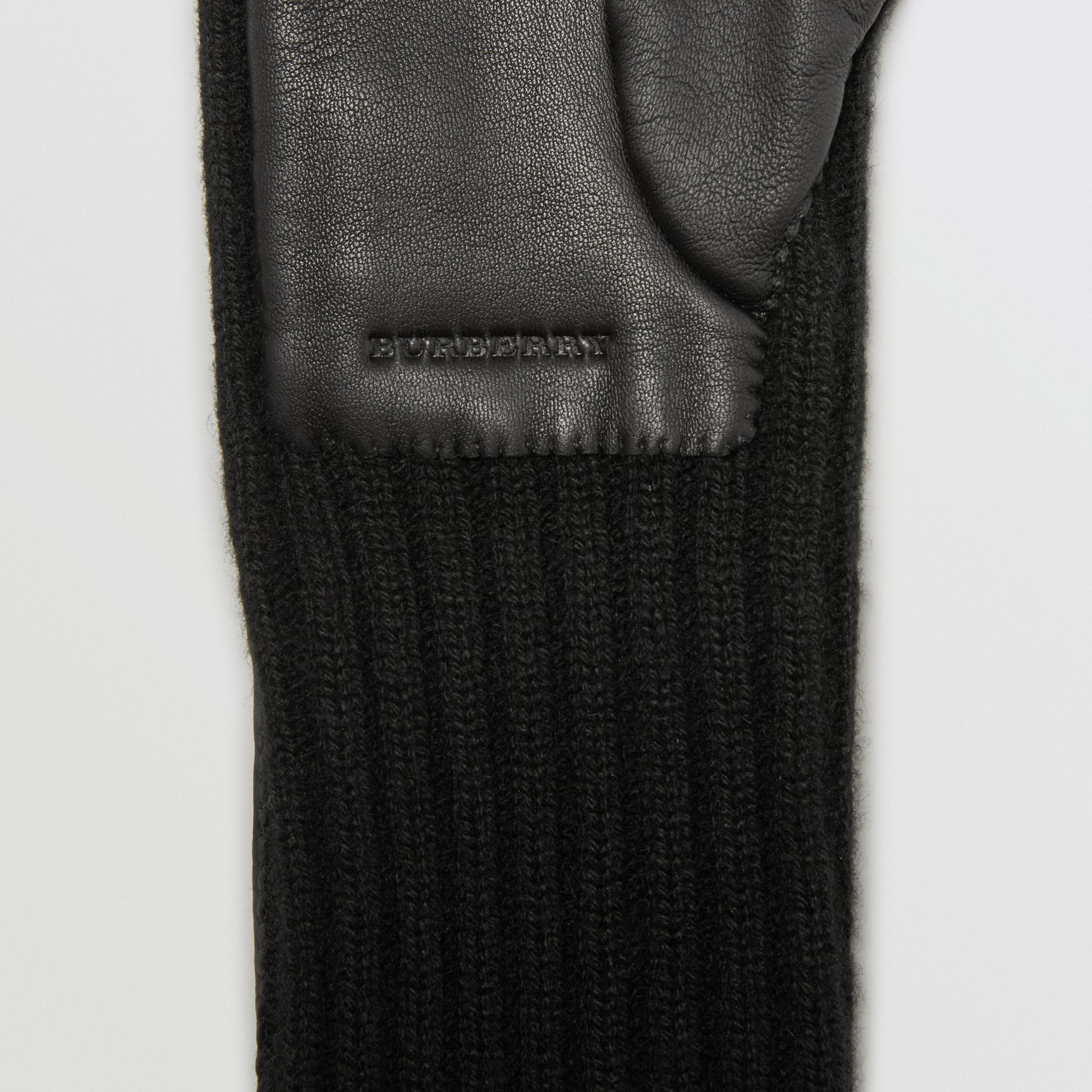 Cashmere and Lambskin Longline Gloves in Black - Women | Burberry Australia - gallery image 1