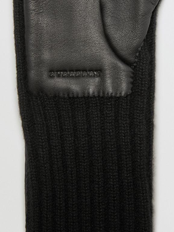Cashmere and Lambskin Longline Gloves in Black - Women | Burberry - cell image 1