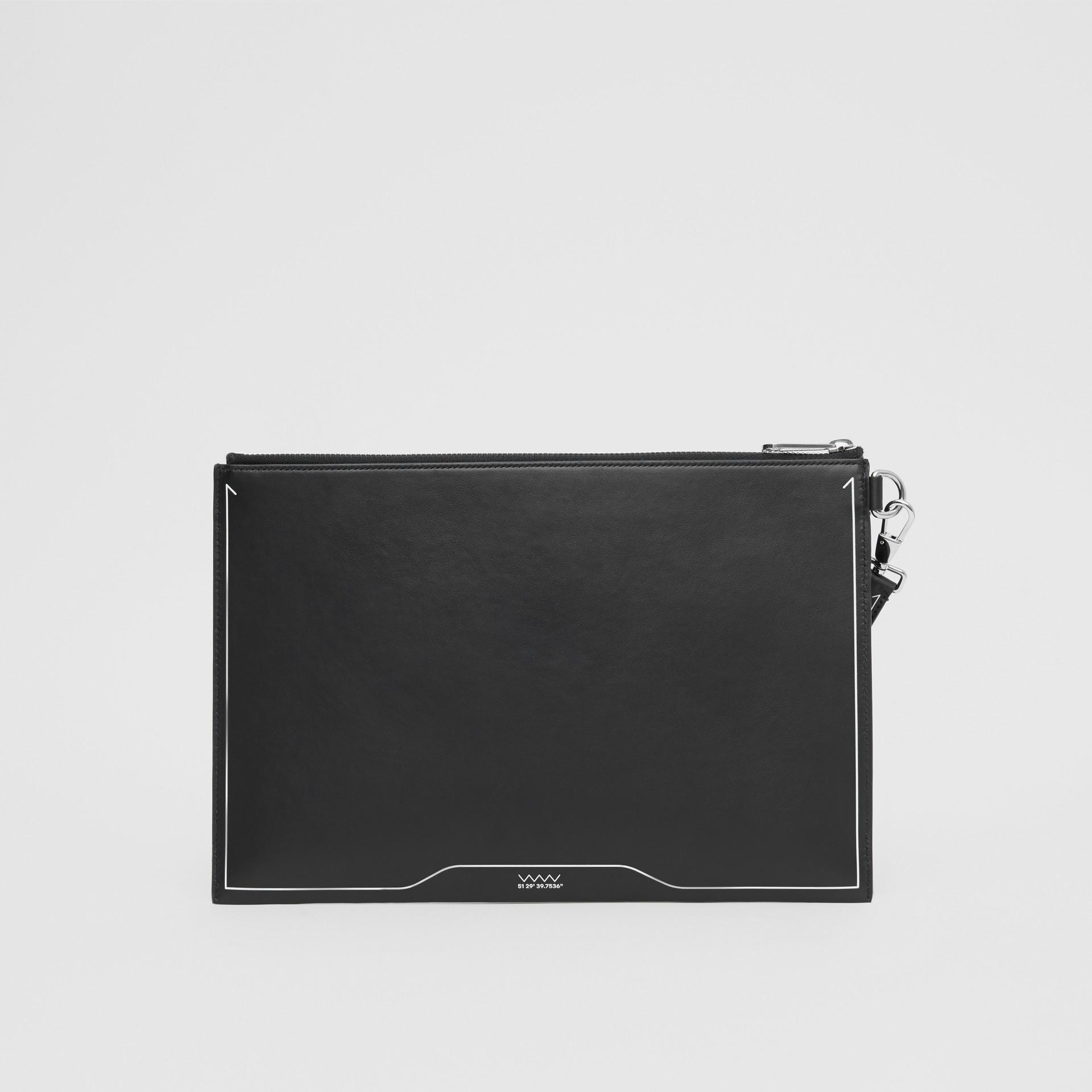 シンボルプリント レザー ジップポーチ (ブラック) | バーバリー - ギャラリーイメージ 5