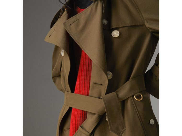 The Westminster Heritage Trench Coat in Dark Military Khaki - Women | Burberry - cell image 4
