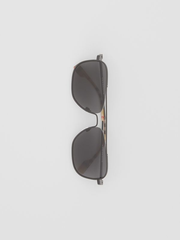 Top Bar Detail Square Frame Sunglasses in Matte Black - Men | Burberry Canada - cell image 2