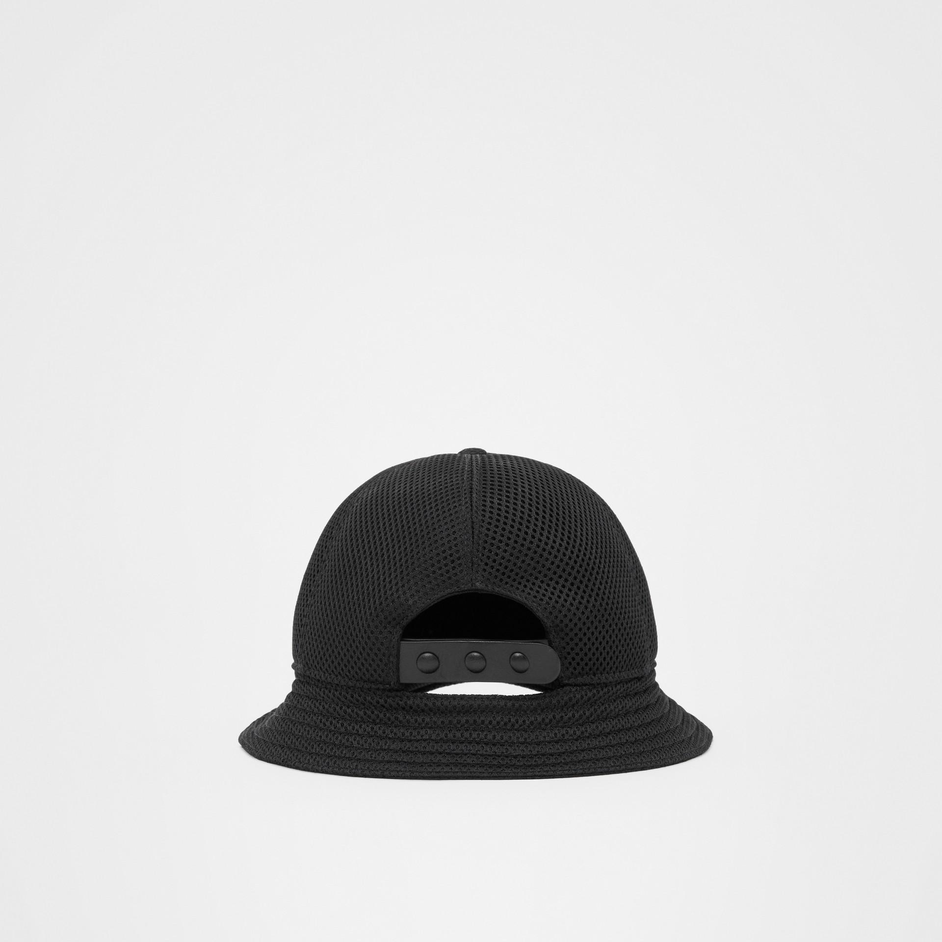 Monogram Motif Reconstructed Baseball Cap in Black   Burberry - gallery image 5